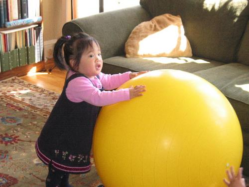 joelle and the big yellow ball